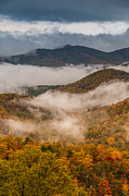 Asheville Prints - Fog in the Valley Print by Joye Ardyn Durham
