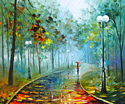 Rain Painting Framed Prints - Fog of Passion Framed Print by Leonid Afremov