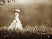 White Dress Digital Art Posters - Fog Walk Poster by Robert Foster