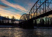 Montana Landscape Photos - Foggy Bottom Bridge by Aaron Aldrich