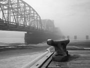Cleat Prints - Foggy Bridge Print by Jeremy Evensen