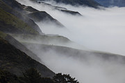 Roads Photos - Foggy coastal hills by Garry Gay