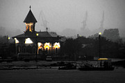 Romania Photo Originals - Foggy Evening On The Danube by Ken Johnson
