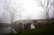Burnsides Bridge Prints - Foggy Morning at Burnsides Bridge Print by Brent Spithaler