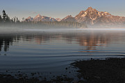 Moran Prints - Foggy Morning in Grand Teton National Park Print by Sandra Bronstein