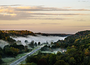 Natchez Trace Parkway Photo Posters - Foggy Morning On Highway 96 Poster by Photo Captures by Jeffery