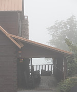 Kaypickens.com Prints - Foggy Morning Porch Print by Kay Pickens