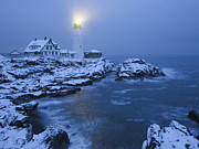 Maine Scenes Prints - Foggy Morning Print by Stephen Beckwith