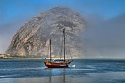 Morro Bay Photos - Foggy Morrow Bay by Adam Jewell