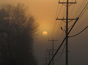 Greg Simmons Prints - Foggy Sunrise Print by Greg Simmons