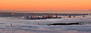Vancouver Prints - Foggy Sunset Print by Alexis Birkill