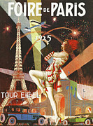Vintage Eiffel Tower Posters - Foire de Paris Poster by Nomad Art And  Design