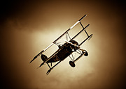 Replica Weapon Framed Prints - Fokker Dr-1 Framed Print by Rastislav Margus