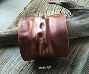 Bohemian Jewelry - Fold-form Copper Cuff by Jeni Gray