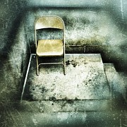 Folding Chair On Stoop Print by Amy Cicconi