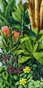 Exotic Leaves Posters - Foliage III Poster by Catherine Abel
