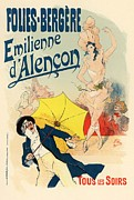 Illustrate Posters - Folies Bergere Emilienne dAlencon Poster by Sanely Great