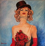 Show Girl Paintings - Folies Bergere Paris by Dagmar Helbig