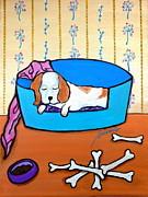 PRISTINE CARTERA TURKUS - Folk art  Dog in Slumber