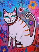 PRISTINE CARTERA TURKUS - Folk art White Cat