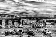Port Kent Prints - Folkestone harbour Print by Ian Hufton