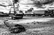 Trawler Metal Prints - Folkestone Harbour low tide Metal Print by Ian Hufton