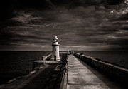 Port Kent Framed Prints - Folkestone lighthouse Framed Print by Ian Hufton