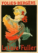 French Poster Posters - Follies Bergere Poster by Sanely Great