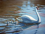 Janet King Painting Metal Prints - Follow the Leader Metal Print by Janet King