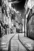 Cobblestone Prints - Follow the Lines in Porto Print by John Rizzuto