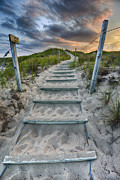 Sea Oats Prints - Follow the Path Print by Sebastian Musial