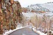 Photography Prints Prints - Follow the Red Rock Ridge Winter Road  Print by James Bo Insogna
