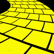 Walkway Mixed Media - Follow The Yellow Brick Road by Andee Photography