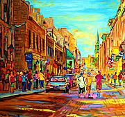 Resto Bars Paintings - Follow the Yellow Brick Road by Carole Spandau
