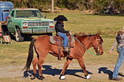 Cowgirl Photos - Following Mom by Kris Wolf