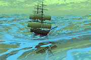 Boating Digital Art - Following Sea by Corey Ford