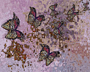 Butterfly Digital Art Posters - Following The Breeze Poster by Jack Zulli