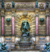 Saint Michael Photos - Fontaine Saint Michel by Douglas J Fisher