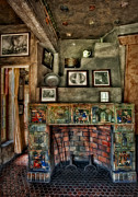 Byzantine Photo Metal Prints - Fonthill Castle Bedroom Fireplace Metal Print by Susan Candelario