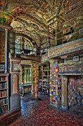 Byzantine Photo Metal Prints - Fonthill Castle Library Room Metal Print by Susan Candelario
