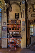 Home Office Furniture Framed Prints - Fonthill Castle Study Framed Print by Susan Candelario