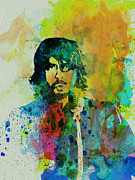 Rock Star Painting Prints - Foo Fighters Print by Irina  March