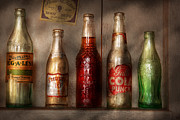 Glass Bottle Posters - Food - Beverage - Favorite soda Poster by Mike Savad