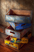 Stacked Prints - Food - Beverage - Pepsi-Cola boxes  Print by Mike Savad