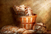Basket Prints - Food - Bread - Your daily bread Print by Mike Savad