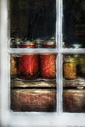 Canning Jars Posters - Food - Country Preserves  Poster by Mike Savad