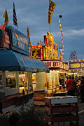 Street Fairs Prints - Food Court Print by Skip Willits