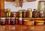 Canning Jar Framed Prints - Food - I love preserving things Framed Print by Mike Savad
