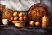 Earth Tones Metal Prints - Food - Lemons - Winter spice  Metal Print by Mike Savad