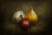 Natural White Posters - Food - Onions - Onions  Poster by Mike Savad